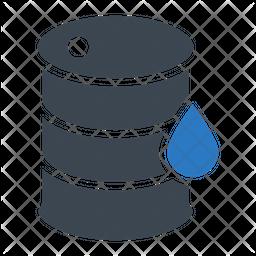 Oil Barrel Flat Icon