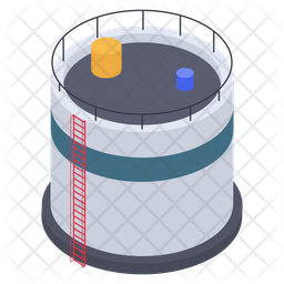 Oil Depot Container Icon