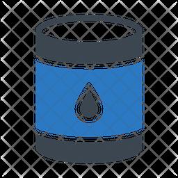 Oil Drum Flat Icon