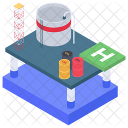 Oil Industry Plant Icon