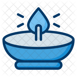 Oil Lamp Colored Outline Icon
