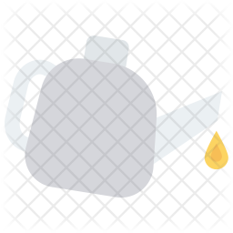 Oil purring Flat Icon