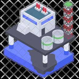 Oil Refinery Plant Icon
