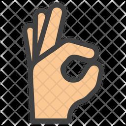 Ok Gesture Emoji Icon