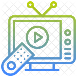 Tv Gradient Icon