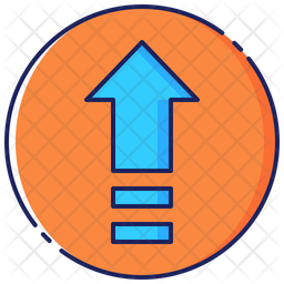 On Colored Outline Icon