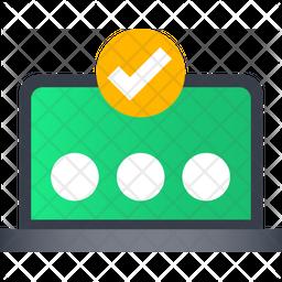 One Time Password Gradient Icon