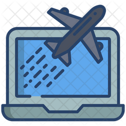 Online Air Ticket Icon