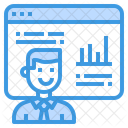 Online Analysis Colored Outline Icon