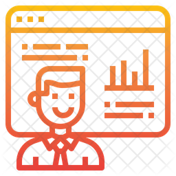 Online Analysis Gradient Icon