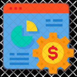 Online Analysis Management Flat Icon