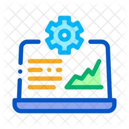 Online Analysis Management Colored Outline Icon