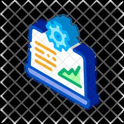 Online Analysis Management Isometric Icon