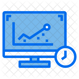 Online Analysis Time Colored Outline Icon