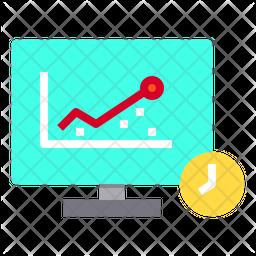 Online Analysis Time Icon