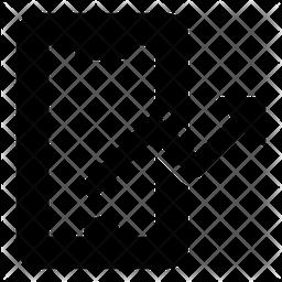 Online Analytics Glyph Icon
