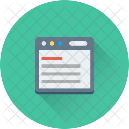 Online Article Isometric Icon