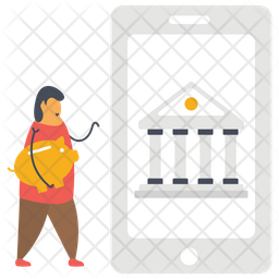 Online Banking Flat Icon
