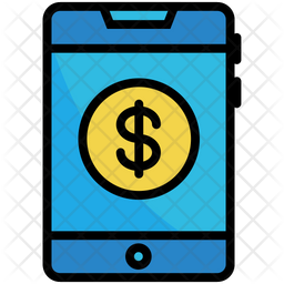 Online Banking Colored Outline Icon