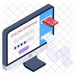 Online Banking Isometric Icon