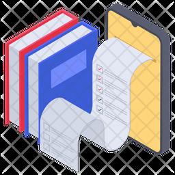 Online Book Test Icon