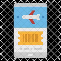 Online Book Ticket Icon