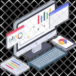Online Business Analytics Icon