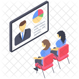 Online Business Lecture Icon