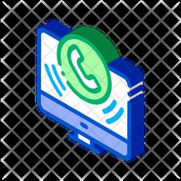 Online Calling Isometric Icon