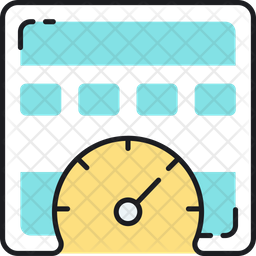 Online dashboard Colored Outline Icon