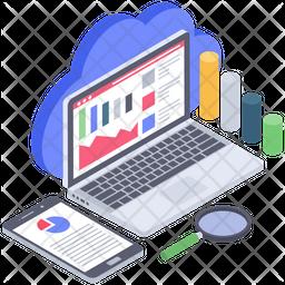 Online Data Analysis Icon