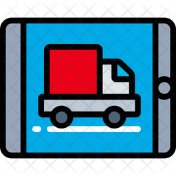 Online Delivery Colored Outline Icon