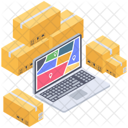 Online Delivery Tracking Icon