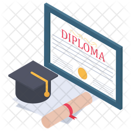 Online Diploma Isometric Icon