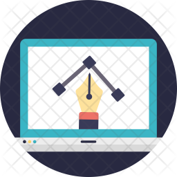Online Drawing Flat Icon