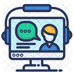 Online Education Colored Outline Icon