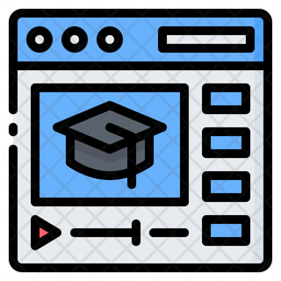 Online Education Video Icon