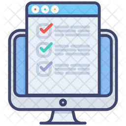 Online Exam Colored Outline Icon