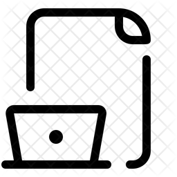 Online File Line Icon