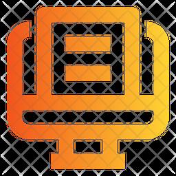 Online File Gradient Icon