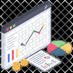 Online Financial Analytics Icon