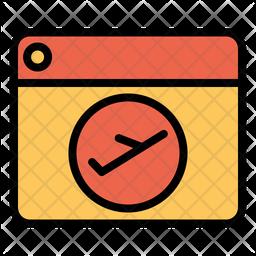 Online Flight Booking Icon