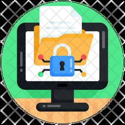 Online Folder Security Flat Icon
