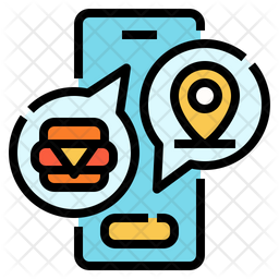 Online Food Order Icon Of Colored Outline Style Available In Svg Png Eps Ai Icon Fonts