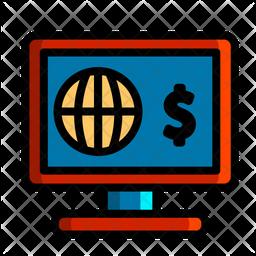 Online Global Money Icon