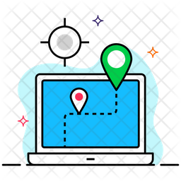 Online Gps Colored Outline Icon