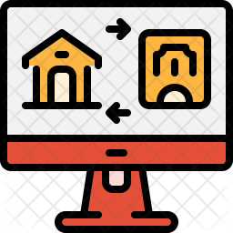Online home booking Icon