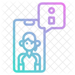 Online Information Gradient Icon