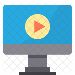 Online Lecture Learning Icon