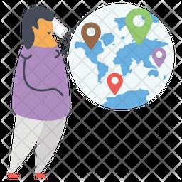 Online Location Flat Icon
